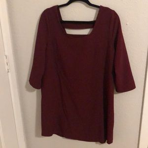 Beautiful burgundy long sleeve sheath dress size L